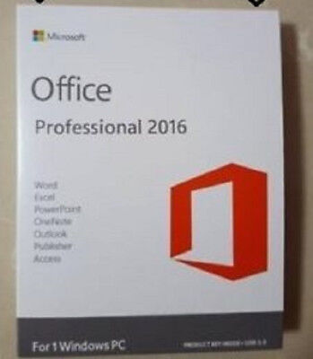Microsoft Office 2016 Professional Plus 32 64-bit 1 PC Digital Download No DVD