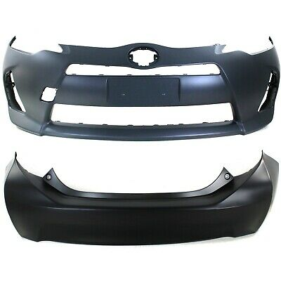 Bumper Cover For 2012-2014 Toyota Prius C Front Paint To Match w//Fog Light Holes