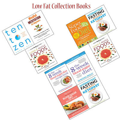 Low Fat Collection Books Set Intermittent Fasting and Hidden Healing Powers NEW