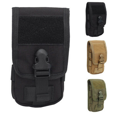 Tactical Molle Phone Pouch Case Cover Sleeve Holder With Belt Clip Double-Layer