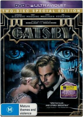 """""""THE GREAT GATSBY"""" DVD, 2 Disc Special Edition - Region [4] NEW"""