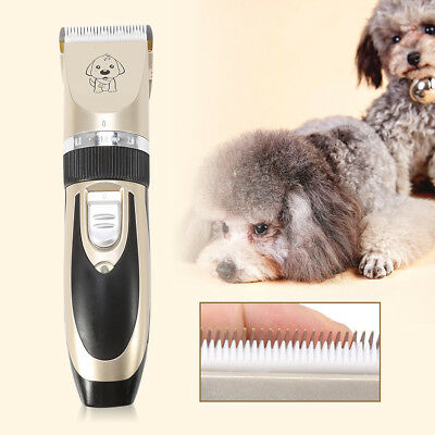 Rechargeable Cat Dog Hair Trimmer Electrical Pet Clipper Cutter Grooming Set