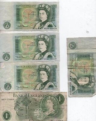 bank of england one pound notes