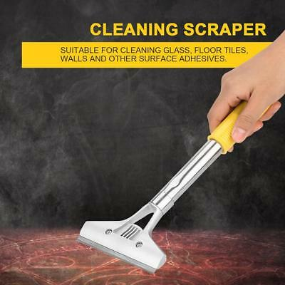"4"" Cleaning Scraper w/ Long Handle for Wall Floor Glass Windows Adhesive Removal"
