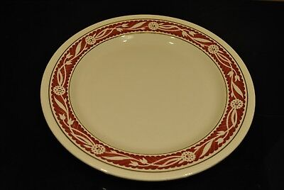 Plat Boch Belgique - Bords à dessins rouges - Diamètre 28,5 cm