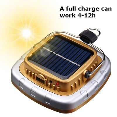 Solar Power/USB LED Flashlight Camping Hiking Rechargeable Light Lantern Lamp