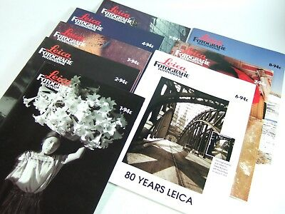 8x LEICA FOTOGRAFIE magazines 1994 English Edition for users of this 35mm camera