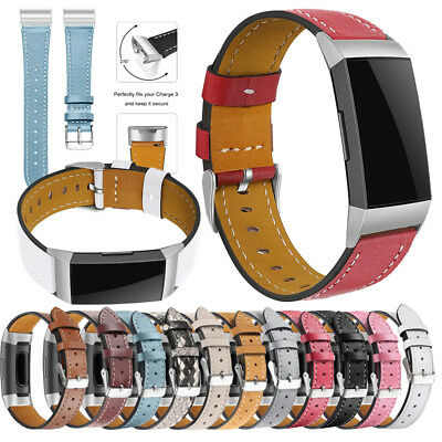 Replacement Leather Wrist Strap Watch Band Smart Bracelet For Fitbit Charge 3 US