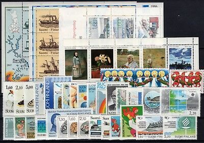 P106093/ Finlande / Finland / Full Years 1986 – 1987 Neuves ** / Mnh 173 €