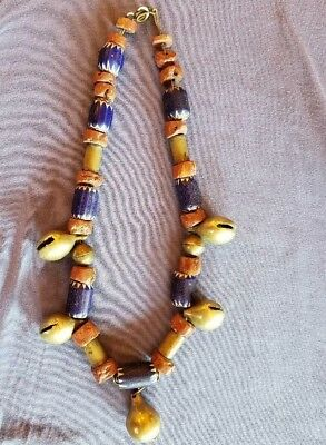 antique 1950's African handmade necklace