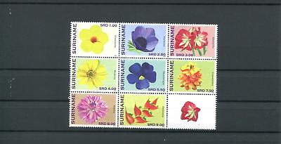 Suriname Mnh 2012 Flowers 2097