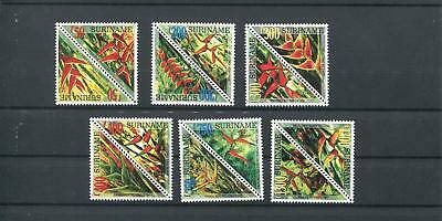 Suriname Mnh 1999 Flowers Orchids 2009