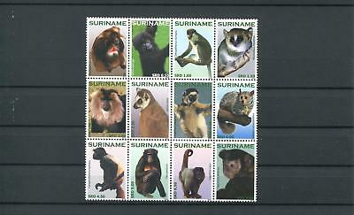 Suriname Mnh 2010 Monkeys 2081