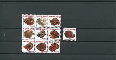 Suriname Mnh 2009 Shells 2076