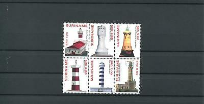 Suriname Mnh 2012 Lighthouses 2100