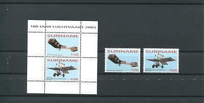 Suriname Mnh 2003 Aircrafts 2029