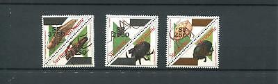 Suriname Mnh 2002 Insects Triangle Overprint 2023