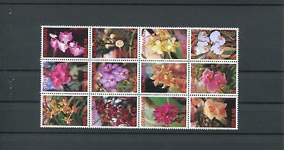 Suriname Mnh 2005 Flowers Orchids 2040