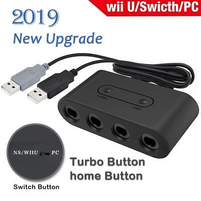 GameCube Controller Adapter 4port for nintendo Switch Wii U&PC USB NEW TURBO