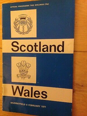Scotland v Wales Rugby Union Programme 1971