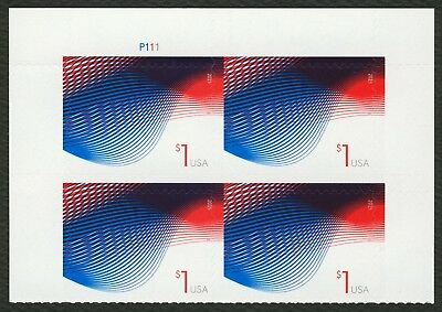 #4953 Patriotic Wave, Plate Block [P111 Top], Mint ANY 4=