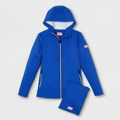ac68eebc3 Hunter for Target Kids Packable Rain Coat Blue Limited Edition Size M NWT!