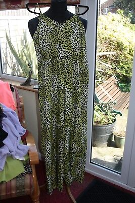 Gorgeous Boohoo  Lime & Black Tiger Print Strappy Catsuit Bnwt Size 14