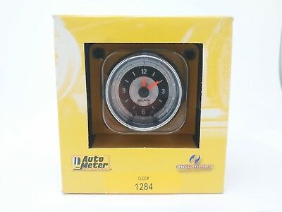 Auto Meter 1284 American Muscle Clock 12V 16V LED through-the-dial lighting! NEW