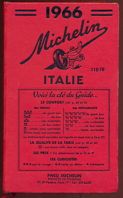 Guide Michelin - Italie - 1966 - TBE.
