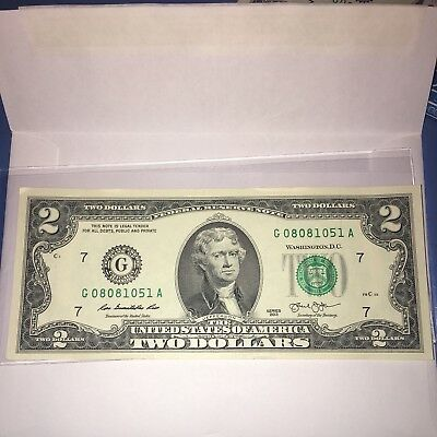 One RARE US Mint UNCIRCULATED $2 Two Dollar Bill LUCKY COLLECTIBLE Consecutive
