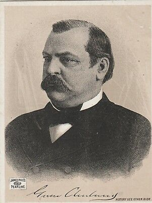 President Grover Cleveland~Victorian Trade Card~James Pyle's Washing Suds