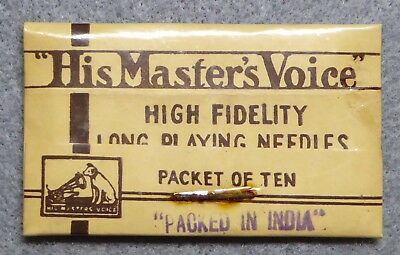 His Master's Voice, High Fidelity Long Playing Needles, sealed in pack, NOS.