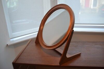Stunning Vintage Danish Teak Sleigh Table Mirror