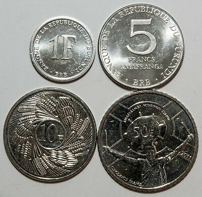 A531  Burundi lote de 4 monedas - four coins lot