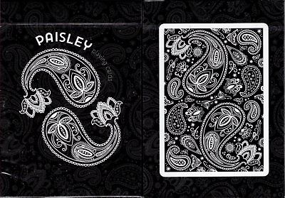 Paisley Black Marked Playing Cards Poker Size Deck USPCC Custom Limited Sealed