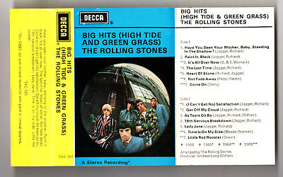 Rolling Stones - Big Hits High Tide & Green Grass Cassette Tape (Paint It Black)