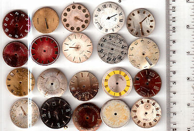 Lot of  20 Men WATCH DIALS Vintage  Steampunk Art  or for parts *S29081