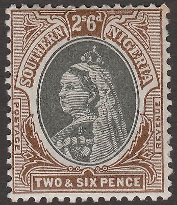 Southern Nigeria 1901 QV 2sh6d Black and Brown Mint SG7 cat £48