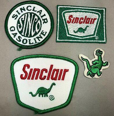 4 SINCLAIR PATCH Gas & Oil Service Station Vintage Advertising