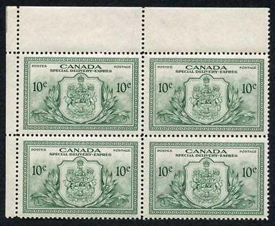 Canada SGS15 1946 10c Green Arms of Canada and Peace Symbols Block of 4 U/M