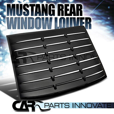 2005-2014 Ford Mustang GT V6 V8 Black Rear Window Louver Sun Shade Cover