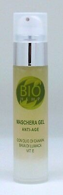 Biohemp Bava di Lumaca Maschera Gel Anti-Age  50ml olio di canapa Made in Italy