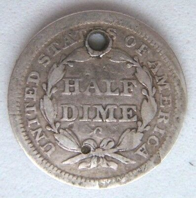 United States Seated Liberty Half Dime, Holed, New Orleans Mint - 1840 ?
