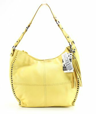 The Sak NEW Yellow Silverlake Leather Hobo Shoulder Handbag Purse  179-  058 8ac2c83919d1a