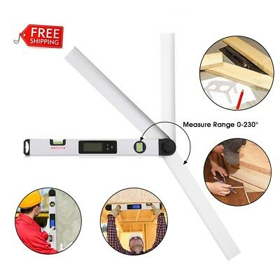 LCD Inclinometer Digital Measuring Protractor Angle Gauge Spirit Level Finder