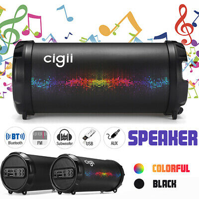 Wireless Portable Bluetooth Speaker Stereo Super Bass FM Radio AUX USB TF Music