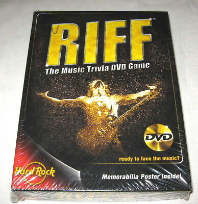 RIFF DVD Music Trivia Game, 2005, University Games, FACTORY SEALED NEW!