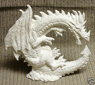 Ceramic Bisque Dragon Moon Nowell Mold 2629 U-Paint Ready To Paint