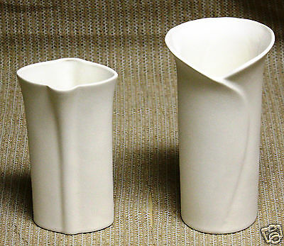 Ceramic Bisque Set Bud Vases Evergreen Mold 656 U-Paint Ready To Paint