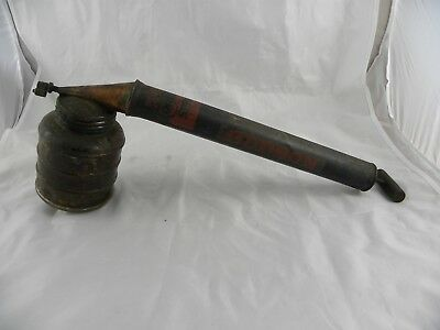 Vintage Metal HUDSON Continuous Bug Insect Sprayer with Brown Glass Reservoir